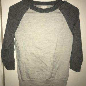 Sweater/baseball tee